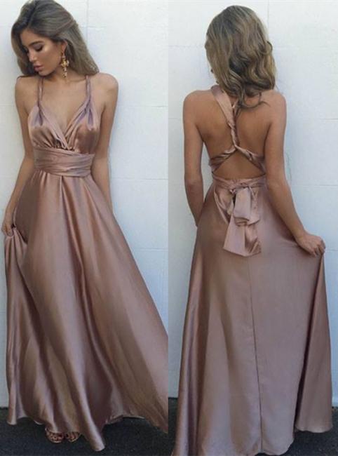 Elegante Lange Abendkleider Abschlussballkleider A Linie Bodenlang Abiballkleider