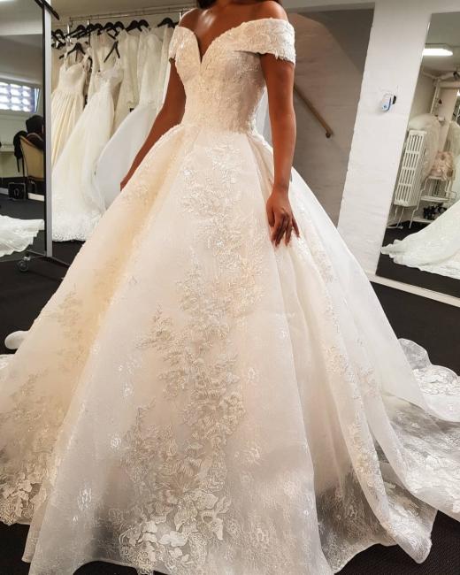 Elegant wedding dresses white | Lace Wedding Dress A Line Cheap