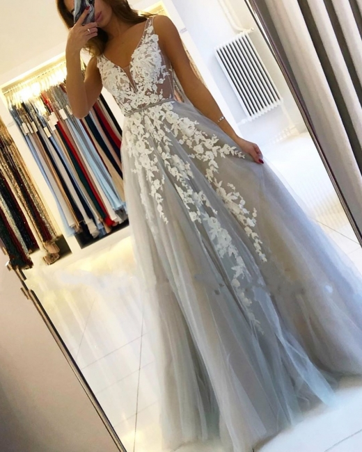 Designer evening dresses with lace | Evening wear long cheap online
