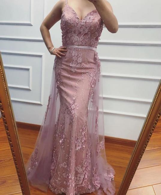 Elegante Abendkleider Lang Rosa   Abendkleid Spitze Online Günstig