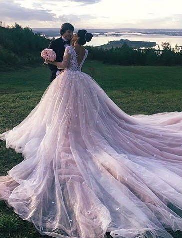 Luxury Brautkleider Mit Lange Schleppe Online Bestellen Hochzeitskleider