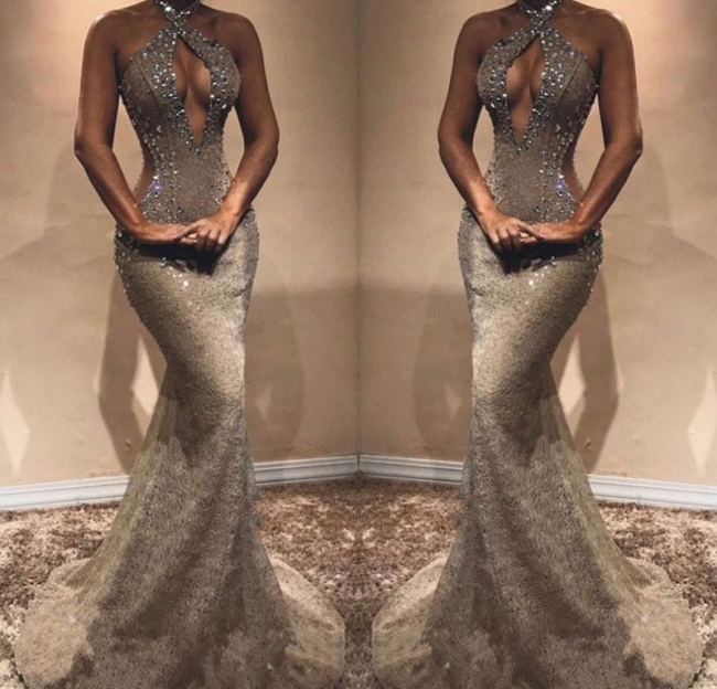 Fashion Abendkleider Lang Günstig Spitze Ballkleider Online