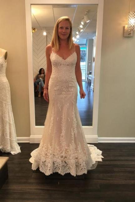 Simple wedding dresses with lace | Mermaid wedding dresses online