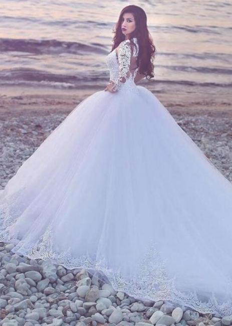 Modern Wedding Dresses A Line | Wedding dresses long sleeves