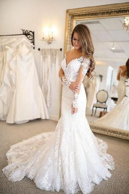 Modern wedding dresses with sleeves | Wedding dresses lace cheap