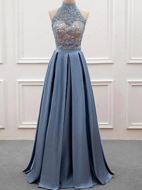 Elegante 2 Teilige Abendkleider, Spitze Abendkleider Spitzenkleid lang Online