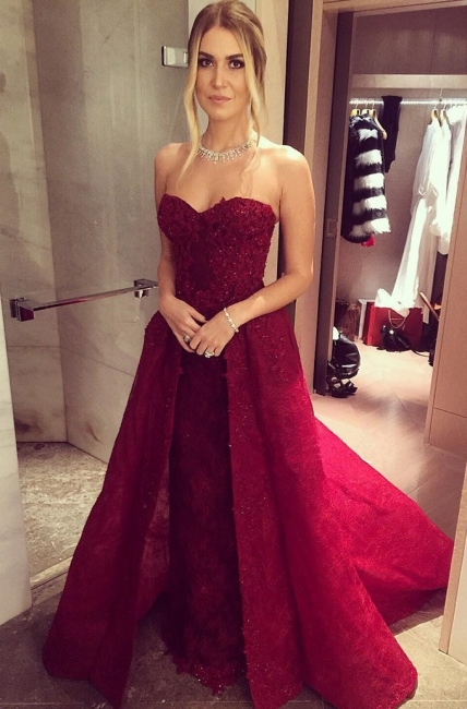 Wine red evening dresses lace long cheap a line prom dresses party dresses