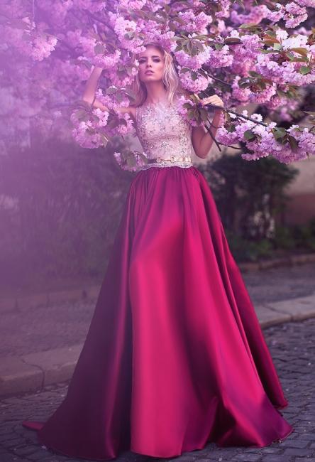 Elegante Abendkleider Lang Mit Spitze | Günstig Abendmoden Fuchisa Online