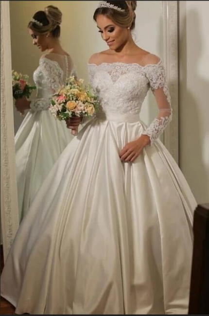 Luxury wedding dresses with sleeves | Wedding dress lace princess