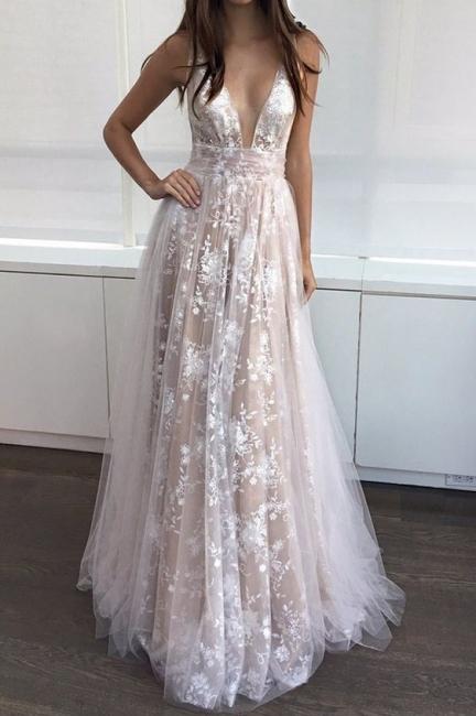 Elegante Brautkleider Spitze Strand Träger Etuikleid Brautmoden Hochzeitskleider