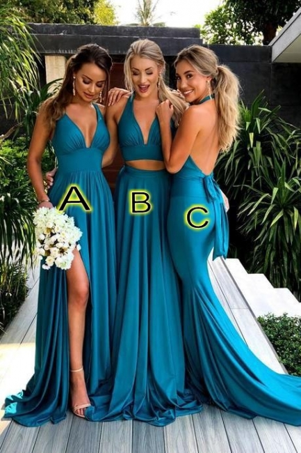 Blue Bridesmaid Dresses Long Cheap Dresses For Bridesmaids Cheap
