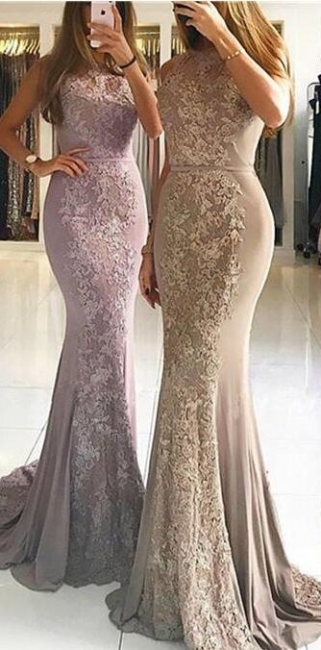 Elegant Evening Dresses Long With Lace Chiffon Evening Wear Prom Dresses Online