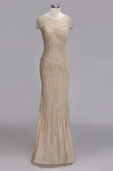 Luxury evening dresses cheap | Long glitter prom dresses