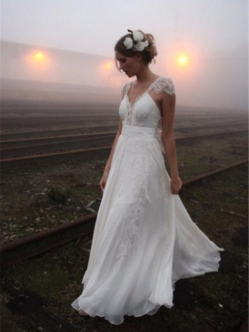 2021 Summer Chiffon Wedding Dresses With Lace Sheath Dresses Wedding Dresses Online