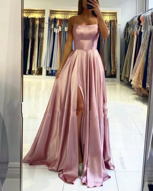 Schlichte Abendkleider Lang Rosa | Abendmoden Online Kaufen