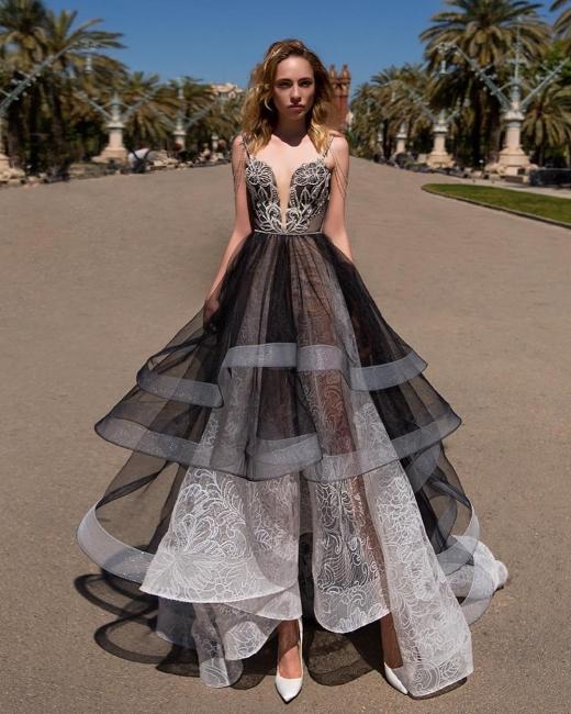 Elegant Evening Dresses Long Black | Prom dresses with lace online