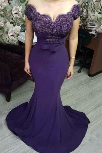 Elegant evening dresses with lace | Evening wear cheap prom dresses