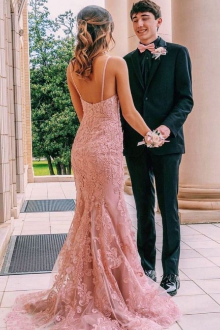 Elegant evening dresses with lace | Cheap Long Prom Dresses Online