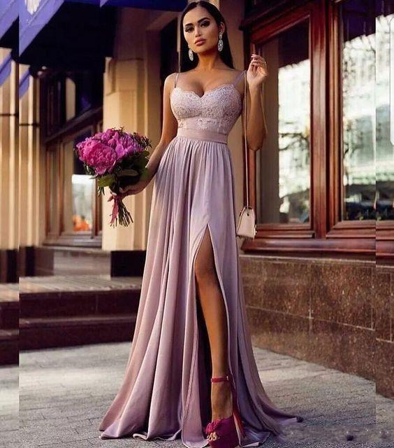 Elegante Abendkleider Lang Günstig Mit Spitze Schnitz Abendmoden Abiballkleider