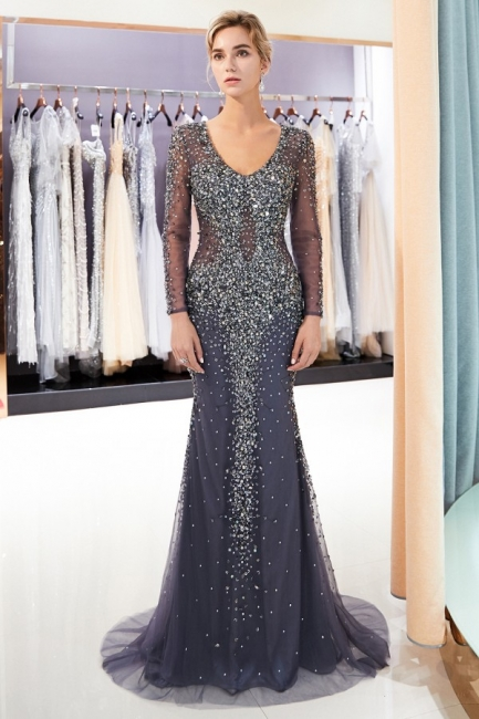 Luxury prom dresses with sleeves long prom dresses cheap online