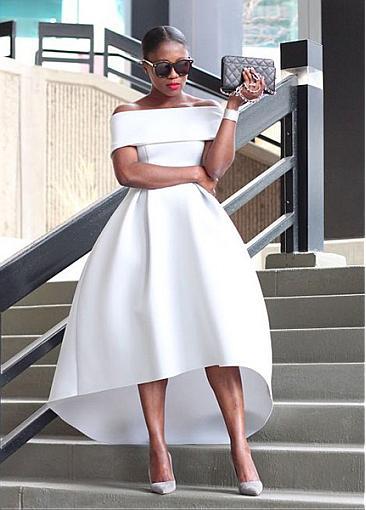 Schlichte Brautkleider Kurz A Linie Weiße Hochzeitskleider Günstig Online