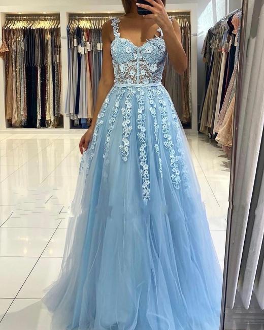 Abendkleider Blau | Abiballkleider Lang Günstig Online