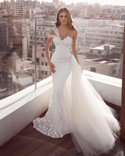 Brautkleider Meerjungfrau Mit Spitze | Hochzeitskleider Tüll Online