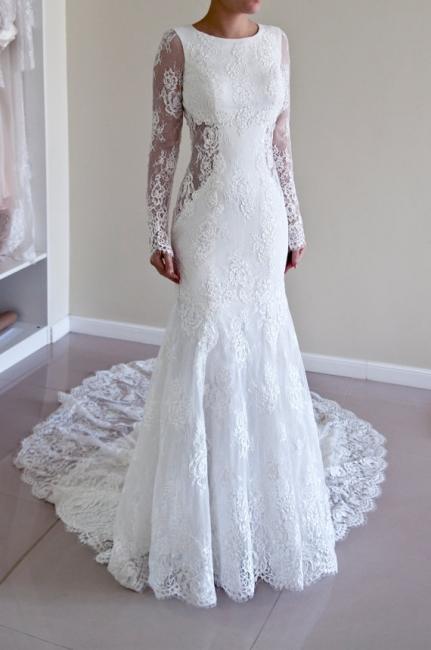 Günstig Weiße Hochzeitskleider Spitze Günstig Meerjungfrau Brautkleider Online Kaufen