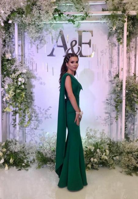 Simple evening dresses long cheap | Evening wear green online