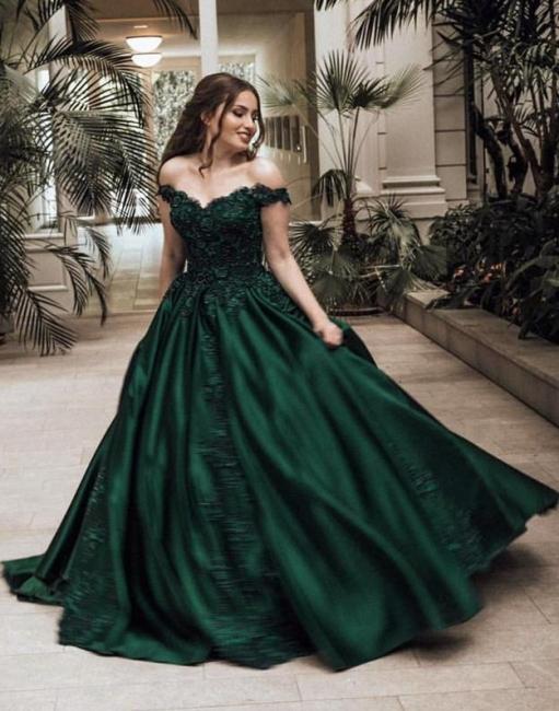 Günstige Grüne Abendkleider Lang Mit Spitze Prinzessin Bodenlang Abendmoden Online