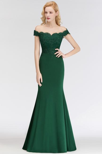 Elegant Bridesmaid Dresses Green Long With Lace Bridesmaid Dresses