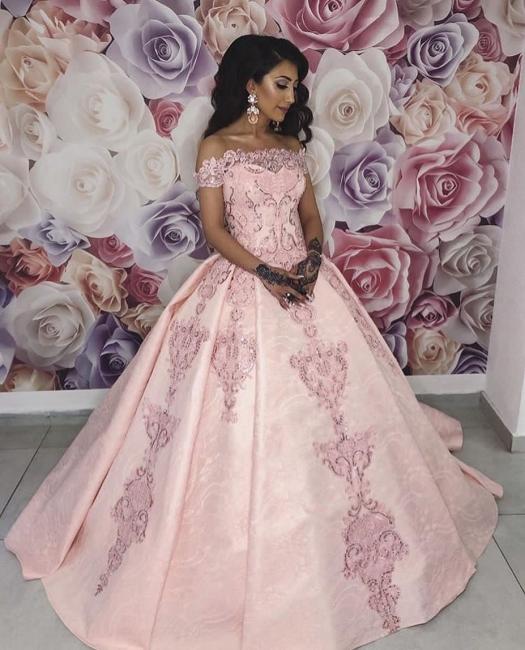Pink Evening Dresses Long | Lace evening dress princess online