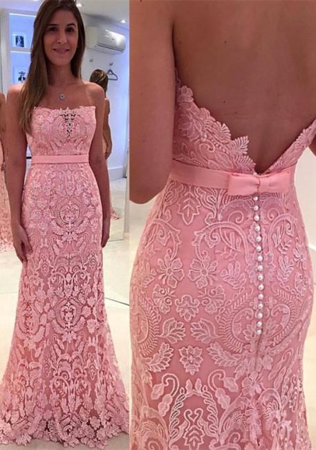 Pink Long Prom Dresses Cheap Heart Sheath Dresses Evening Wear Prom Dresses