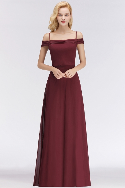 Elegant bridesmaid dresses burgundy chiffon sheath dresses for bridesmaids online