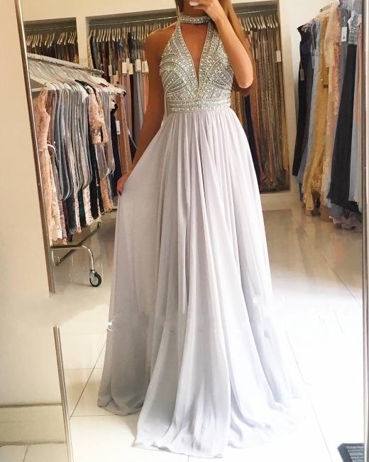 Elegante Abendkleider Lang Chiffon Abiballkleider Abendmoden Günstig Online