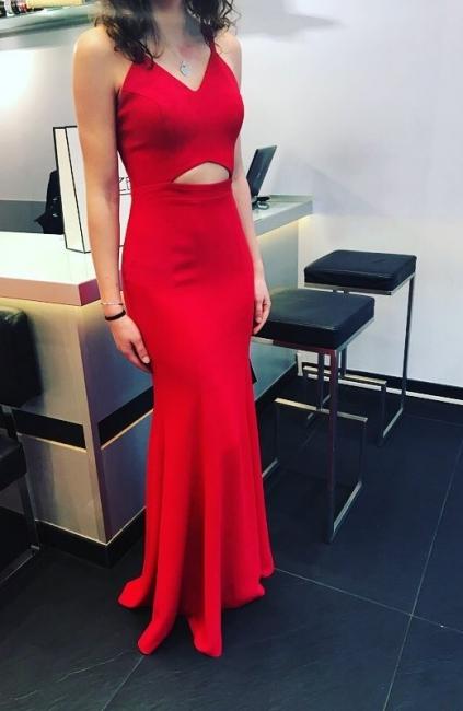 Elegant red evening dresses long cheap spaghetti straps floor-length evening wear for sale