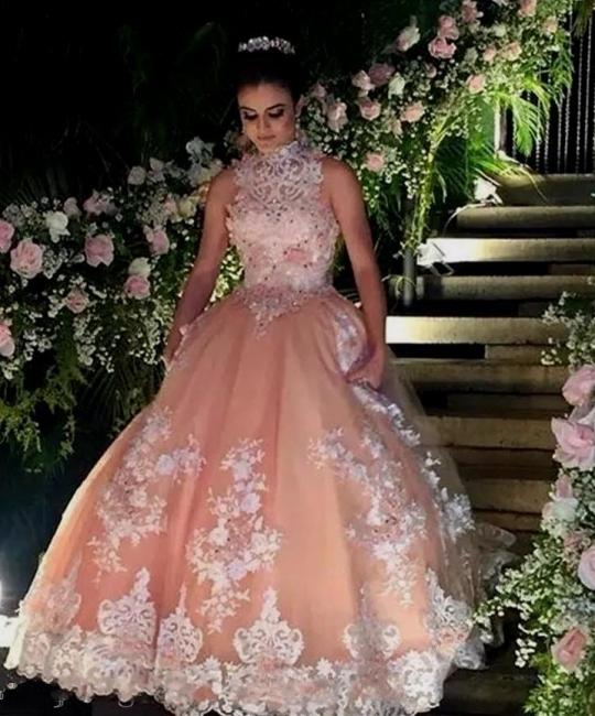 Elegant princess prom dresses long cheap lace floor length prom dresses online