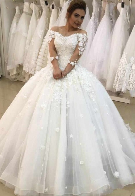 Modern wedding dresses with sleeves | Wedding dresses a line with lace