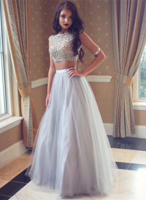 Sibler prom dresses 2 dividers beaded tulle long evening wear prom dresses