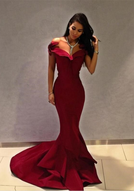 Designer Rote Abendkleider Lang Günstig Abiballkleider Online Kaufen