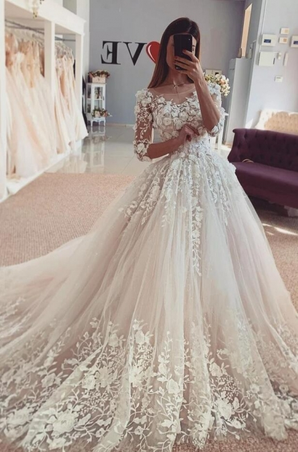 Beautiful wedding dresses with sleeves | Lace Bridal Wear Online