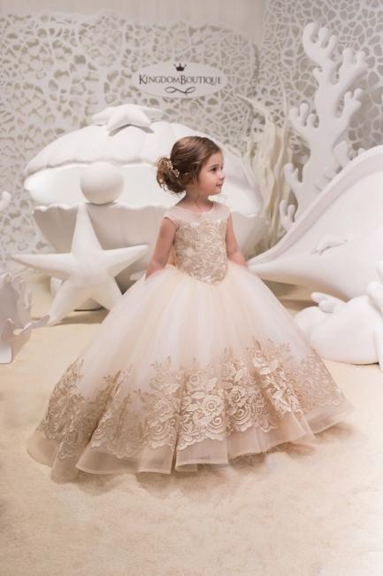 Designer Prinzessin Blumenmädchenkleider Spitze | Kleider für Blumenmädchen