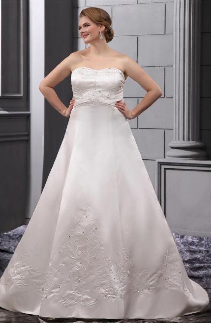 Weiß Brautkleider in Großen Größen Hochzeitskleider Übergrößen Billig