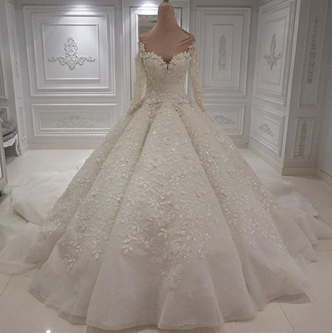 Buy extravagant wedding dresses online | Wedding dress long sleeve