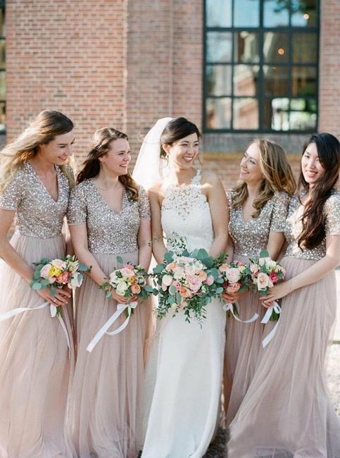 Elegante Brautjungfernkleider mit Ärmel | Kleider für Brautjungfern