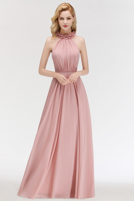 Elegant Chiffon Bridesmaid Dresses Dusty Pink Sheath Dresses For Bridesmaids Cheap