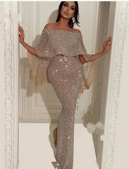 Elegante Abendkleider Mit Glitzer | Abiballkleid Lang Günstig Online