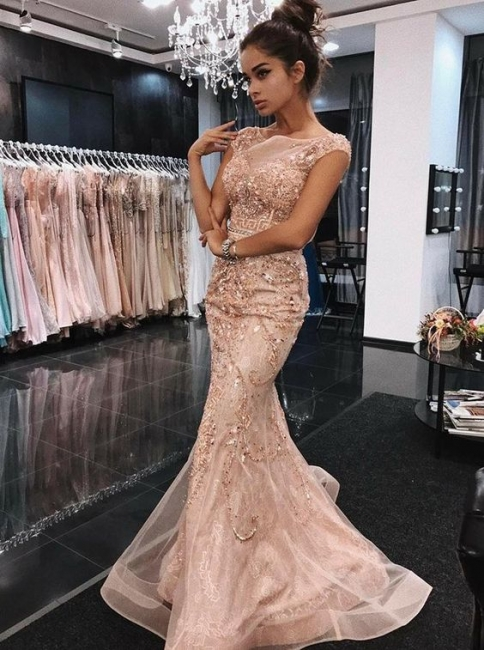 Champagne evening dresses luxury | Long prom dresses cheap online