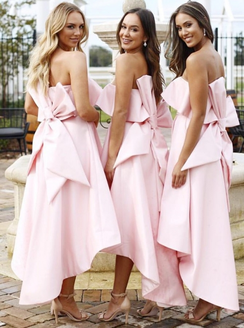 Beautiful bridesmaid dresses pink short | Dresses for bridesmaids