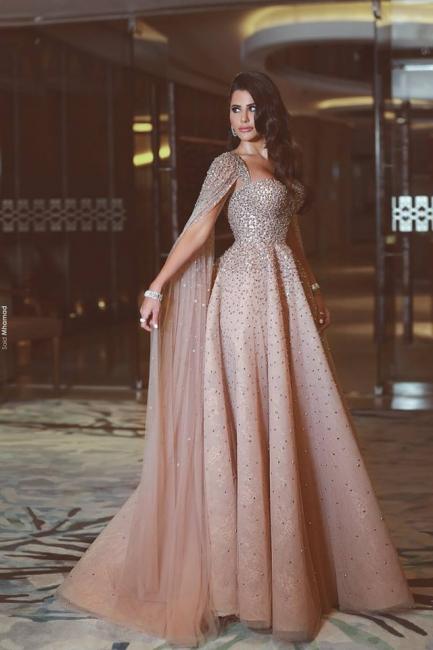 Luxury Abendkleider Lang Günstig A linie Perlen Abiballkleider Abendmoden Online Shop